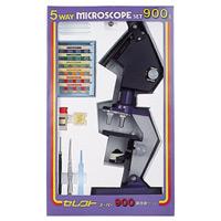顕微鏡セット 自由研究 学習 セレクト顕微鏡 セレクト900 ミザールテック 日本製 固定倍率3種 プレパラート付