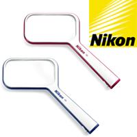 ルーペ ニコン 読書用 Sシリーズ 1.5倍 S1-4D おしゃれ 携帯 ラケットルーペ 虫眼鏡 拡大鏡 手持ちルーペ 角型