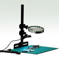 エヌエスライティング LED照明付き拡大鏡検査作業台 目視検査くん NS-CPSLTBR