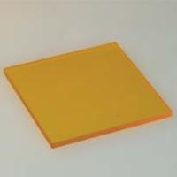 HOYA製 光学フィルター シャープカットフィルター 黄色 Y-44 50X50 t=2.5 光学ガラスフィルター [エヌエスライティング]