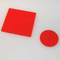HOYA製 光学フィルター シャープカットフィルター 橙色 O-56 50X50 t=2.5 光学ガラスフィルター [エヌエスライティング]