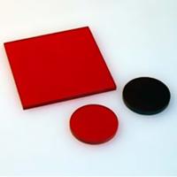 HOYA製 光学フィルター シャープカットフィルター 赤色 R-64 50X50 t=2.5 光学ガラスフィルター [エヌエスライティング]