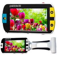 拡大読書器 PEBBLE HD [ペブル] LED 4.3インチ 13.5倍 2年保証 携帯型拡大読書器 軽量 折りたたみ式ハンドル 4.5倍、5.5倍、7.9倍、9.5倍、13.5倍