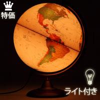 地球儀 [ライト付き] インテリア アンティーク 子供用 学習 行政図 25cm