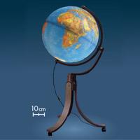 地球儀 ライト付き インテリア リベラ50 地勢図 球径50cm イタリア製