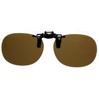 偏光サングラス クリップサングラス BV-26 偏光ブラウン エロイコ 偏光グラス ゴルフ UV カット 跳ね上げ メガネの上からサングラス