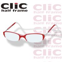 老眼鏡 [シニアグラス] clic half [クリックハーフ] レッド