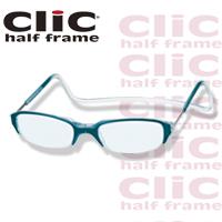 老眼鏡 [シニアグラス] clic half [クリックハーフ] ターコイズ