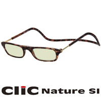 老眼鏡 PCメガネ CliC Nature SI ブラウン クリックナチュレ シニアグラス PCグラス