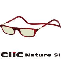 老眼鏡 PCメガネ CliC Nature SI レッド クリックナチュレ シニアグラス PCグラス 男性 女性 おしゃれ