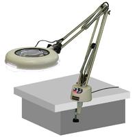 LED照明拡大鏡 LSK ワイド-F型 調光付 4倍 オーツカ 拡大鏡 LED照明拡大鏡 検査 ルーペ 拡大 精密検査