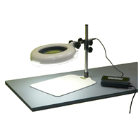 LED照明拡大鏡 ワイド型 調光なし LSKs-B 4倍 オーツカ 拡大鏡 LED照明拡大鏡 検査 ルーペ 拡大 精密検査 作業