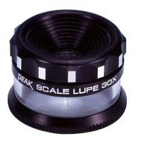 ピーク PEAK スケールルーペ 30倍 拡大鏡 2037 高倍率 検品 検査 測量 スケール付きルーペ スケール