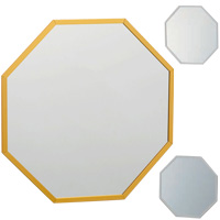 風水八角 オクタム 八角形 スタンド/ウォールミラー Lサイズ・壁掛け専用 鏡 ミラー 風水ミラー 八角形 開運ミラー インテリア 玄関