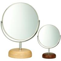 アコウスティック ウッドベース アルミニウム スタンドミラー φ5inch S AC-5S パラデック Acoustic Aluminium Stand Mirror with Wood Base 鏡 卓上 ミラー 卓上ミラー スタンドミラー