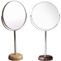 アコウスティック ウッドベース アルミニウムスタンドミラー] φ6inch L AC-6L パラデック Acoustic Aluminium Stand Mirror with Wood Base 鏡 卓上 ミラー 卓上ミラー スタンドミラー