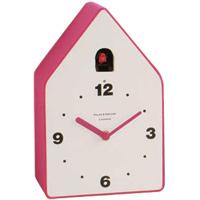 コゥコゥ フェルト スタンド&ウォール カッコウ時計 ピンク+ボディホワイト 時計 置時計 掛け時計
