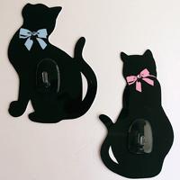 プレベール 粘着シートフック キャット 2個入り フック 猫 収納 キッチン