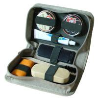 シューポリッシュキット ボックスケース ベージュ&内側オリーブ カテバ 靴クリーナー 靴磨き シューケア用品