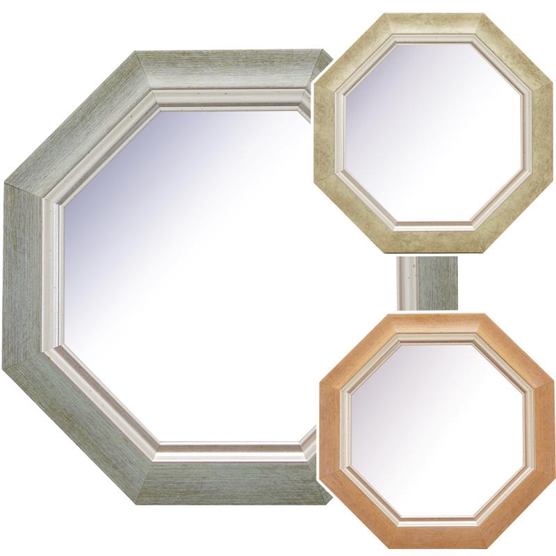 オファーレ 八角ミラー スタンド&ウォールミラー Sサイズ OPH-17 BL OPH-17 IV OPH-17 PK Paladec 八角形 シンプル 鏡 玄関