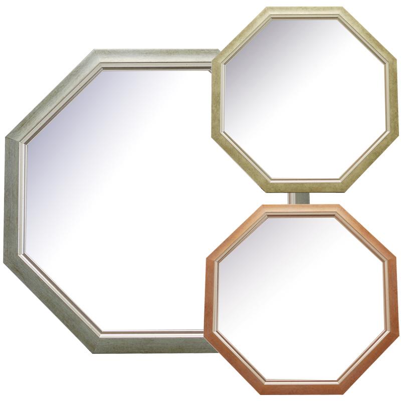 オファーレ 八角ミラー スタンド&ウォールミラー Lサイズ OPH-32 BL OPH-32 IV OPH-32 PK Paladec 八角形 シンプル 鏡 玄関