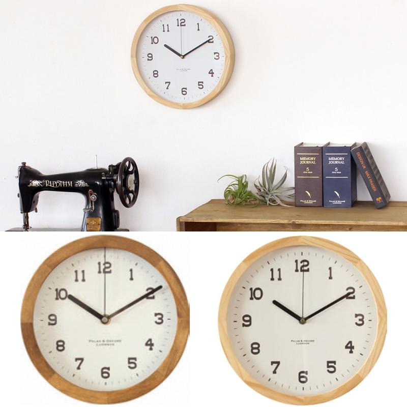 アイナ[Eina] ウッドクロック スタンド&ウォールクロックM 時計 壁 掛け時計 木製 おしゃれ 置時計 クロック インテリア オシャレ ナチュラル リビング