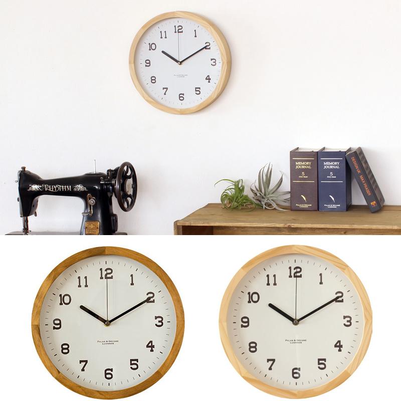 アイナ[Eina] ウッドクロック ウォールクロックL Paladec 時計 壁 掛け時計 木製 おしゃれ 置時計 クロック インテリア オシャレ ナチュラル リビング