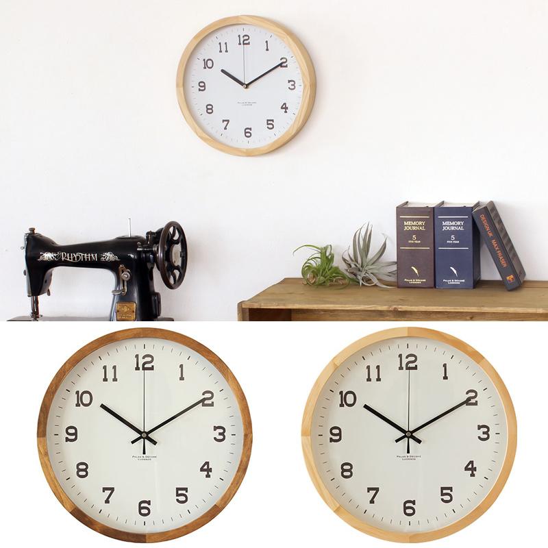 アイナ[Eina] ウッドクロック ウォールクロックXL Paladec 時計 壁 掛け時計 木製 おしゃれ 置時計 クロック インテリア オシャレ ナチュラル リビング