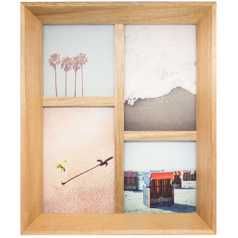 フォリオ アカシアコラージュ フレーム おしゃれ 壁掛け フォトスタンド 写真立て Paladec 人気 木製 多面