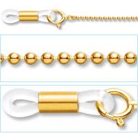18金 メガネチェーン NG-125[代引き不可] 眼鏡チェーン パーツ レディース メンズ 男性用 女性用 ゴールド ギフト プレゼント