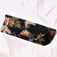 メガネケース セミハード HFU-72花柄BL 眼鏡ケース おしゃれ かわいい めがねケース レディース ギフト プレゼント