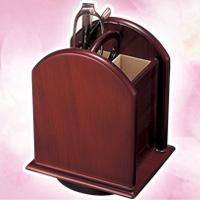 回転式木製メガネスタンド SBR[セピアBR] パール 眼鏡スタンド めがねスタンド おしゃれ オシャレ かわいい