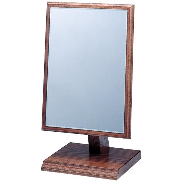 鏡 木材 スタンドミラー メイク 木製フレーム 木枠 卓上ミラー 卓上鏡 化粧鏡
