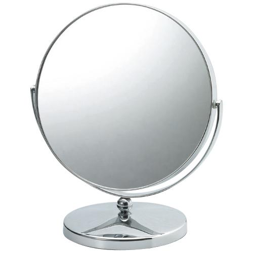 ステンレス鏡 鏡 ステンレス スタンドミラー 卓上ミラー 卓上鏡 化粧鏡 メイク おしゃれ 丸型