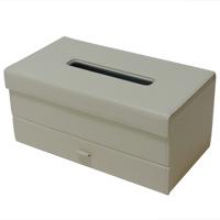ティッシュ ボックス 引出し付 ティッシュボックス ティッシュケース ティッシュカバー 白 ホワイト ロジエ Rosier