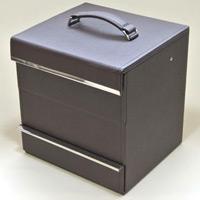 メイクアップボックス オリゾンテ コスメボックス 合成皮革製 メイクボックス 化粧箱 ロジエ Rosier