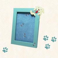 いぬ フォトフレーム 革製 サービス判サイズ L判 ピニャータ DOG 犬 フォトフレーム 革製 写真立て ロジエ Rosier