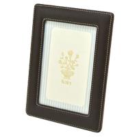 フォトフレーム茶(ポストカード) 写真立て フォトフレーム 写真入れ 革製 ロジエ Rosier