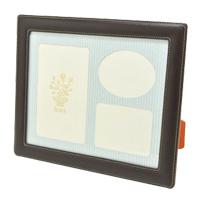 フォトフレーム茶(六つ切) 写真立て フォトフレーム 写真入れ 六つ切り 皮製品 ロジエ Rosier