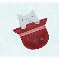 ストラップアクセサリー チャーム ぼうしねこ 牛革製 ピニャータ チャーム 牛革製 アクセサリー ブローチ ストラップアクセサリー 猫 ネコ cat キャット ロジエ Rosier