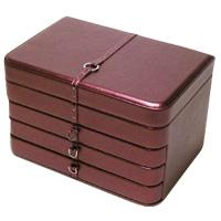 ジュエリーボックス M フェイミー 大容量 アクセサリーケース 宝石箱 アクセサリー入れ ジュエリーケース ジュエリーボックス 合成皮革製 宝石箱 アクセサリーケース 収納 ロジエ Rosier