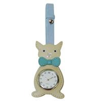 ミニクロック ねこ 白 ピニャータ アクセサリー時計 ミニクロック かわいい 猫 ネコ cat キャット ロジエ Rosier
