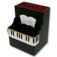 リビングスタンド ピアノ ムシカ リビングスタンド 牛革製 小物入れ ペンたて ペンスタンド Musica かわいい ロジエ Rosier