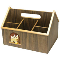 ホームラックL もく福ろう 木製 ふくろう ハンドメイド 手作り 手彫り プレゼント ラック ロジエ Rosier ロジエ Rosier