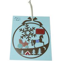 いろ アイ リース 馬車 IR-005 クリスマス オーナメント 飾り 北欧 小物 プレゼント