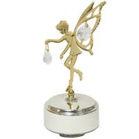 ゴールド&シルバー オルゴール 妖精 ME-295 クリスマス オーナメント 飾り 北欧 小物 プレゼント クリスマスソング