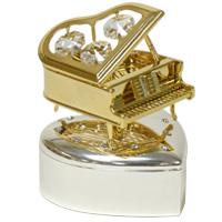 ゴールド&シルバー 小物入れ ピアノ ME-297 クリスマス オーナメント 飾り 北欧 小物 プレゼント