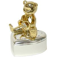 ゴールド&シルバー 小物入れ ベア ME-298 クリスマス オーナメント 飾り 北欧 小物 プレゼント
