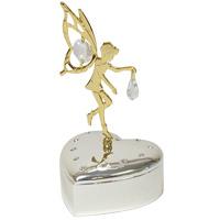 ゴールド&シルバー 小物入れ 妖精 ME-299 クリスマス オーナメント 飾り 北欧 小物 プレゼント