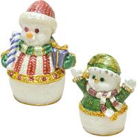 ピューター スノーマン XM-001 XM-002 クリスマス オーナメント 飾り 北欧 雪だるま 小物 プレゼント